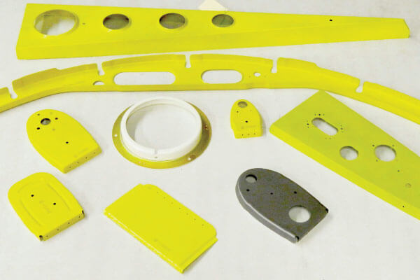 Yellow Sheet Metal Parts